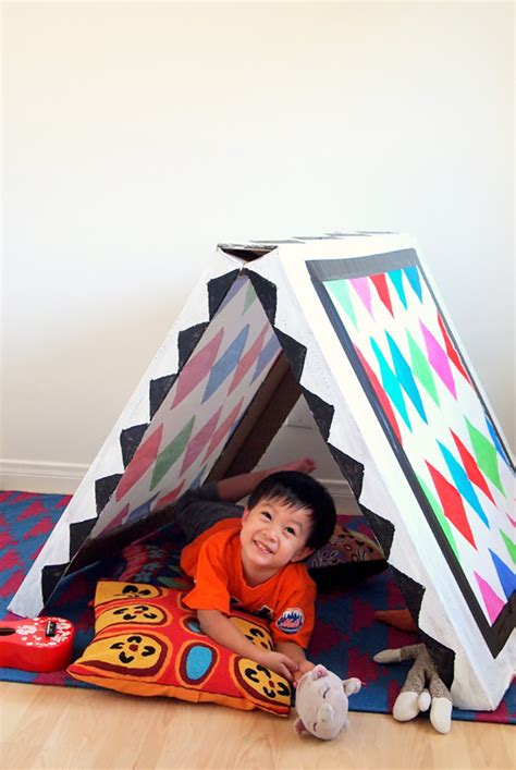 build   collapsible cardboard tent handmade charlotte