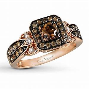Jared le vian chocolate diamond 3 4 ct tw ring 14k for Chocolate diamond wedding ring