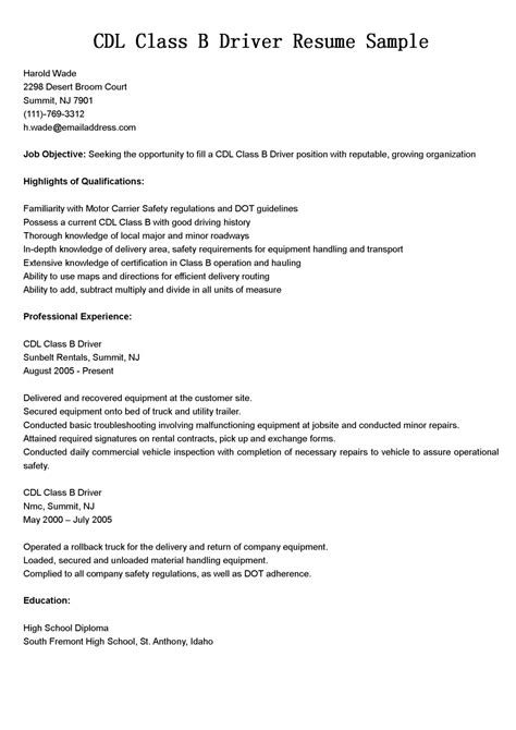 Truck Driver Resume Sle by Contoh Resume Driver Contoh 36