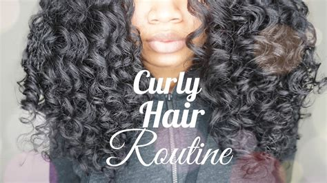 2017 Curly Hair Routine for DEFINED CURLS (Finger Coiling