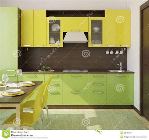 modern kitchen interior stock illustration image