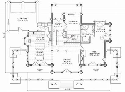 Lodge Floor Peaks Plans Plan Main Log