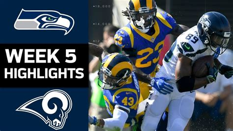 seahawks  rams nfl week  game highlights youtube