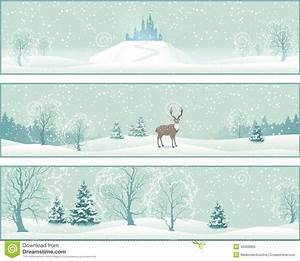 Winter Landscape Vector Banners Stock Vector - Image: 45900895