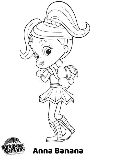 rainbow rangers coloring  girls  coloring pages