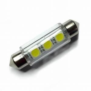 Ampoule Led Voiture : ampoule navette c5w c10w de 42 mm 3 leds blanches 6 volts led effect ~ Medecine-chirurgie-esthetiques.com Avis de Voitures