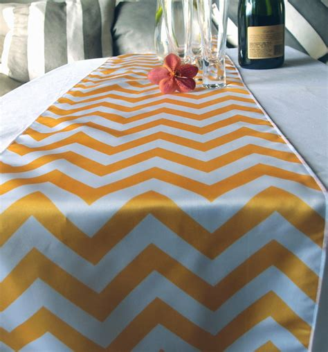 yellow gold table runner chevron table runner yellow