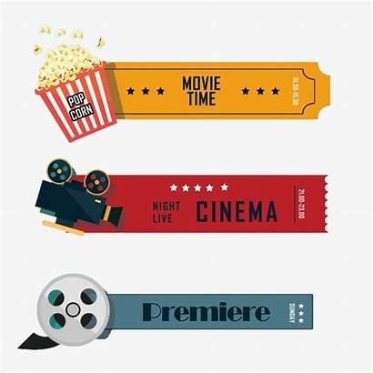 Tickets Retro Clipart Corn Movies Tv Pop