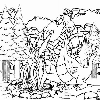 Coloring Dragon Pages Crayola Medieval Printable Turn