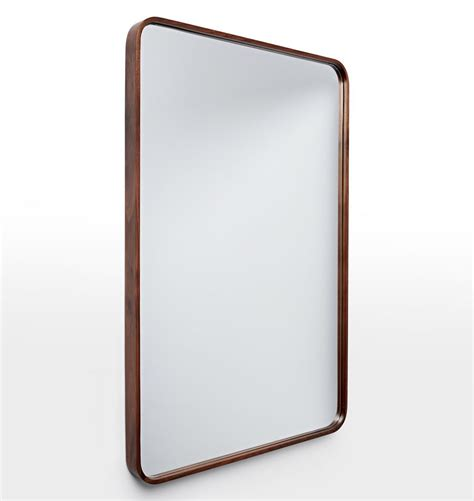 24 Bathroom Mirror by 24 Quot X 36 Quot Solid Walnut Rounded Rectangle Mirror