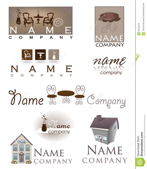 Home Design Companies by Home Design Furniture Logo Stock Vector Illustration Of