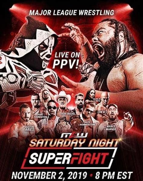 MLW Saturday Night SuperFight 2019 Films Regarder un film ...