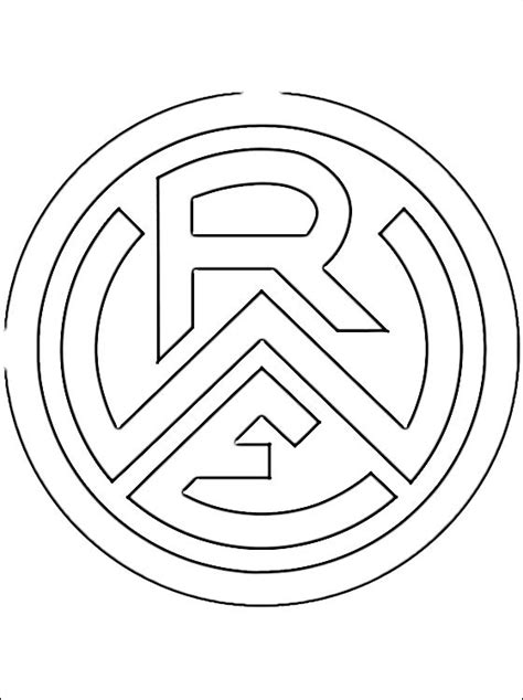 coloring page  rot weiss essen logo coloring pages