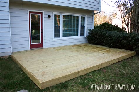 pdf diy build wood deck concrete patio