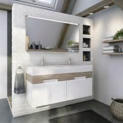 meuble de salle de bains plus de 120 gris argent leroy merlin