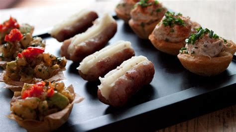mini canape ideas mini banger s mash canape s jw recipes