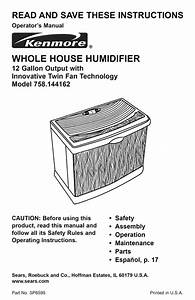 Humidifier Owner U0026 39 S Manual