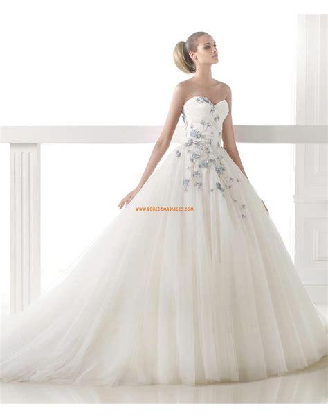 robe mariage princesse robe de mariée 2015 princesse bustier en tulle application fleur