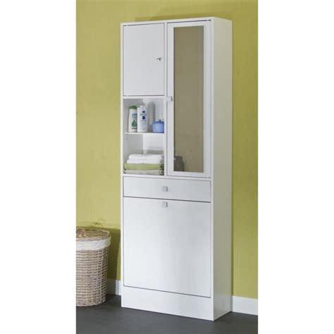 Bac à Linge Galet Armoire De Toilette L 60 Cm Blanc Achat Vente Colonne Armoire Sdb Galet Armoire