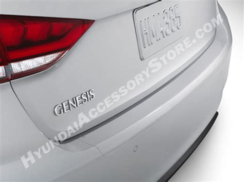 hyundai genesis sedan rear bumper applique