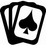 Card Poker Casino Silhouette Cards Playing Clipart