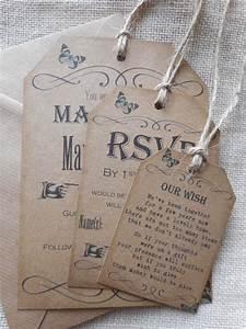 vintage style luggage tag wedding evening party With diy wedding invitations luggage tag