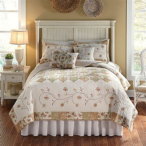 nostalgia home quilts nostalgia home sanibel reversible quilt in ivory bed