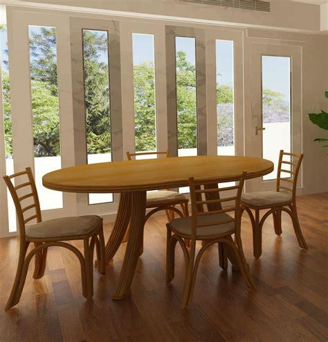 chaise de salle a manger en rotin table ovale en rotin brin d 39 ouest