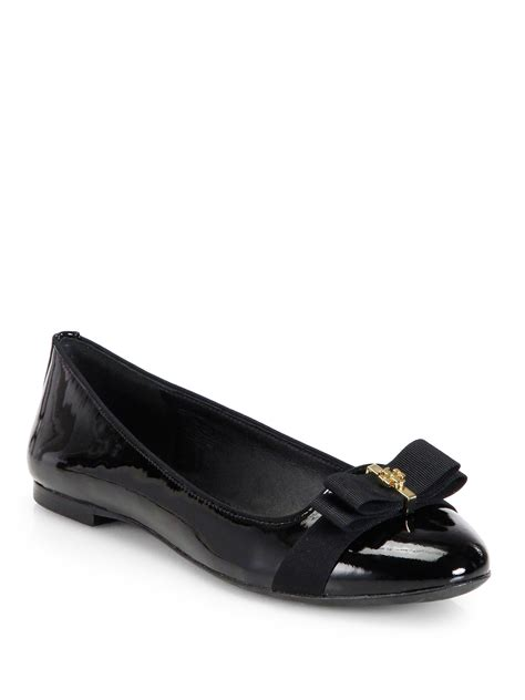 brain atwood shoes lyst burch trudy patent leather ballet flats in black