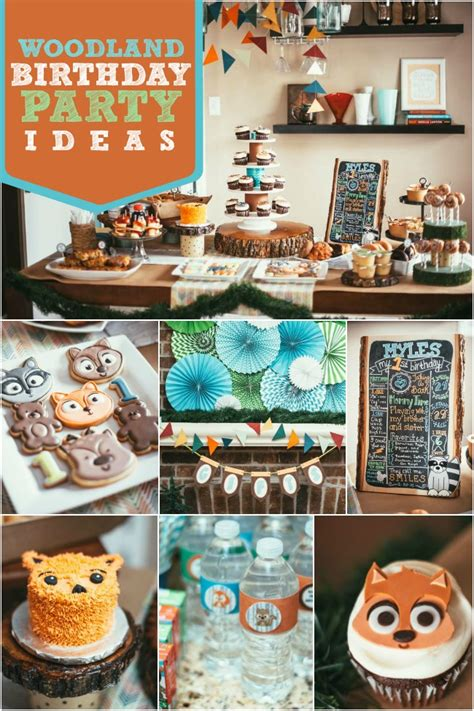 birthday party ideas rookie a boy s woodland 1st birthday party spaceships and laser