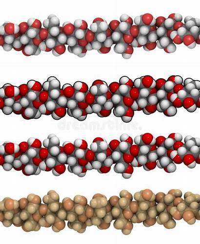 Cellulosa Polysaccharide Cellulose Della Illustrazione Struttura Strukturformel