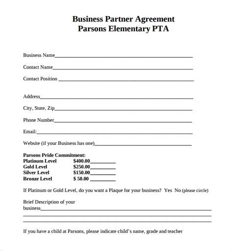 sample business partner agreement templates