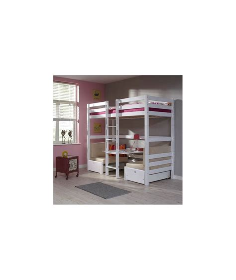 lit superposé avec bureau intégré lits superposes enfants avec bureau