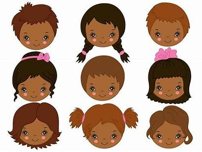 African Clipart Face American Faces Child Vector