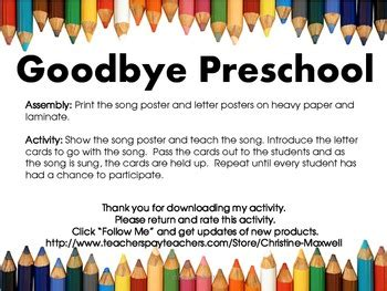end of school goodbye preschool song and letter posters tpt 403 | original 707043 4