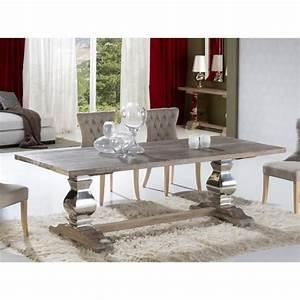 Table Salle A Manger Design : table design de salle a manger en bois ancien massif antica 240 cm deco schuller achat ~ Teatrodelosmanantiales.com Idées de Décoration