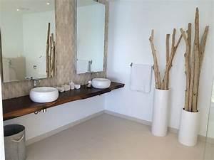 amenagement deco salle de bain bois flotte With salle de bain design avec paravent bois flotté décoration
