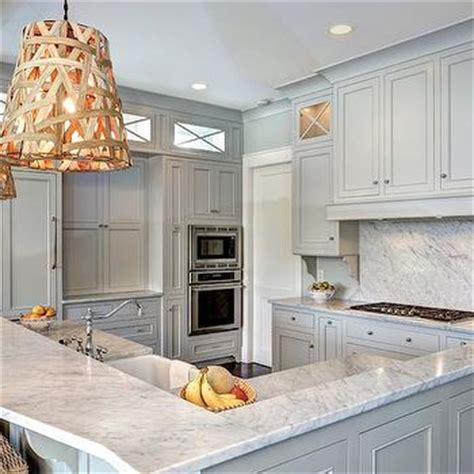 kitchen cabinets white gray owl transitional kitchen benjamin gray 6259