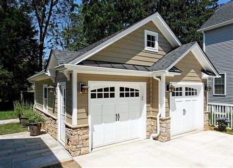 detached garage ideas traditional with concrete paving contemporary exterior shutters