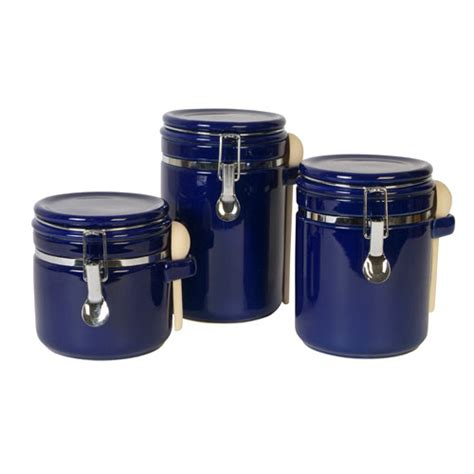 blue kitchen canister set blue kitchen canister sets decorating clear
