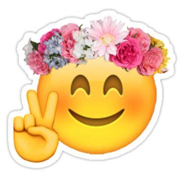 « Flower Crown Emoji », Stickers Par Mizsarie Redbubble