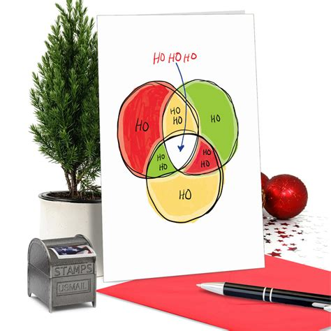 Diagram Hysterical Merry Christmas Printed Greeting