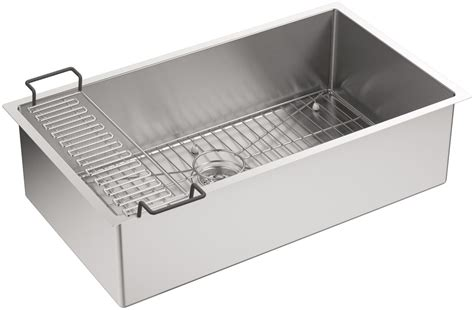 Kohler Strive Sink Rack by Kohler K 5285 Na Stainless Steel Strive 32 Quot Single Basin