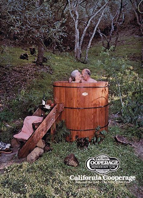 redwood soaking tub california cooperage shasta spas bbq