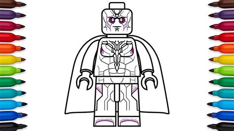 how to draw lego vision from marvel s avengers age of