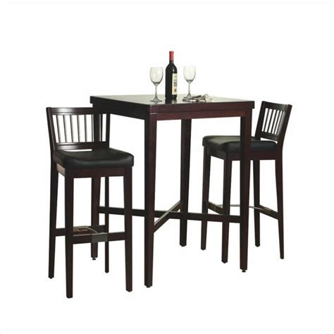pub table solid wood home styles furniture 3 pc solid wood table bar stools