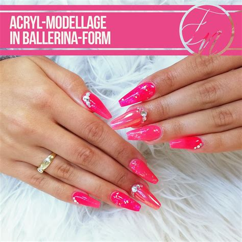 nageldesign rosa ihr nagelstudio on quot danke acryl rosa ballerinaform glamandglitz