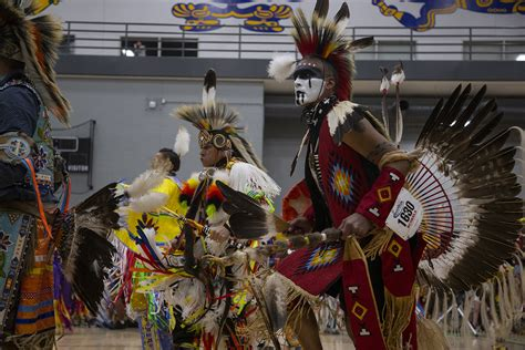 students and community members celebrate american culture at the 25th ui powwow the