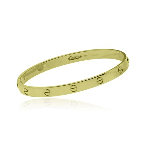 Cartier 18k Yellow Gold Size 20 Love Bangle Bracelet. Golden Watches. Silver Diamond Bangle. Fine Silver Bracelet. Nameplate Bracelet. 18 Karat Gold Bangle Bracelets. Alex And Ani Bangle Bracelets. 14 K Chains. Cushion Cut Earrings