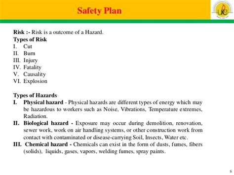 Safety Plan Construction Template Costumepartyrun – Construction Site Safety Plan Sample